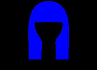 Lange Blauwe Pruiken