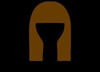 Lange Bruine Pruiken
