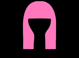 Lange Roze Pruiken