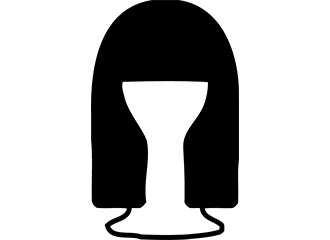 Lange Zwarte Pruiken