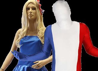Rood Wit Blauwe Feestkleding